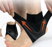 baloncesto de mujeres desnudas al por mayor-Soporte de tobillo apoyo de la ayuda de la elasticidad de Protección Ajuste libre del pie del vendaje esguince Prevención de la aptitud del deporte Guardia banda de tobillo