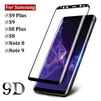 temperli cam ekran koruyucusu renkleri iphone toptan satış-Samsung Galaxy Not 9 Için temperli Cam S9 S8 S10E S10 Artı S7 Kenar Note8 Note9 Ekran Koruyucuları Tam Ekran Kavisli Cam Koruyucu