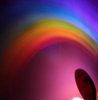 ingrosso proiettori per camera dei bambini-New LED Rainbow Projector Room Night Light Lampada colorata Magic Romantic Gift Kid novità psichedelica star sky lampada di proiezione