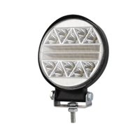 luces redondas de niebla llevadas redondas al por mayor-102W 4 pulgadas Redondo estroboscópico intermitente LED Barra de luces de trabajo Offroad Driving Fog L