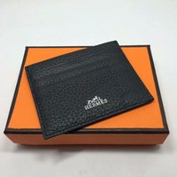 Wholesale hip hop men dress design for sale - Group buy Magic Wallet Ultra thin Real Leather Card Holder Fashion Design Men Women Credit Card Holder Slim Bank ID Card Case With Dust Bag Box