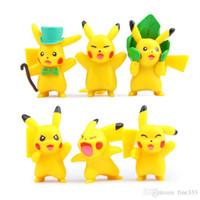 ingrosso elf accessori-Pokemon TOMY Pocket Monsters Pikachu Action Figures Elf giocattolo 6 stili 4.5CM Nuova Pikachu Pikachu Accessori regali della bambola per i bambini regalo della ragazza