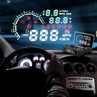Wholesale new speed sensor for sale - Group buy NEW in TPMS Sensor Temperature Tire Pressure Monitor System Digital HUD Head Up Display Car Excess Speed Alarm