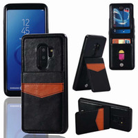 Wholesale ID Card Pocket Case For Iphone XR XS MAX Plus Note S9 Retro Multifunction Luxury Wallet Leather TPU Holder Card Box Flip Cover