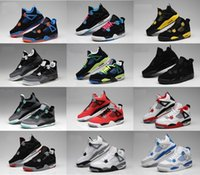 Wholesale army military shoe resale online - Hot s men women Basketball air shoes Military blue Alternate Pure Money White retro Cement Royalty B bred Red Black Cat j4 Sneakers