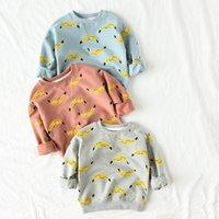 bobo de impresión al por mayor-Otoño Bobo Sudadera Ropa de los niños Camisetas de manga larga Baby Boy Banana Impreso Sudaderas Con Capucha Sudaderas Niños Ropa Chica Tops Y190518
