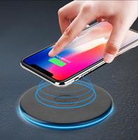 беспроводной сотовый телефон оптовых-QI Беспроводное Зарядное Устройство Зарядки Сотового Телефона Power Bank Мини Зарядка Pad Портативное Зарядное Устройство Для iphone7 8 X Xs Xr