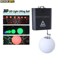 ingrosso decorazioni palla palla-Sistema di sollevamento a tubi LED RGB colorato Dmx Control argano a led sfera di sollevamento a LED effetto luce decorazione interna disco bar ball