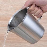 herramientas de medición de líquidos al por mayor-Taza de medir de acero inoxidable Graduada / Hornear / Líquida / Leche Jarra de la taza de café Medida para la herramienta de cocina 500 ml / 1000 ml