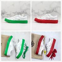 tendencia de zapatos casuales para hombre al por mayor-The Creator Golf Le Fleur BLOQUE DE COLOR x Convase Calzado casual de diseñador Blanco Rojo Verde Lona Street Trend Hombres Clásico Flores Zapatos de ocio