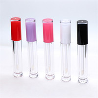 Wholesale lip gloss tube resale online - 5ml ABS Lip Gloss Tube Refillable Plastic Lipstick Lip Balm Bottle DIY Cosmetic Packing Container Storage Bottle