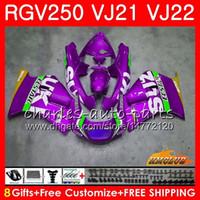Wholesale fairing 1989 for sale - Group buy Fairing For SUZUKI RGV SAPC RGV VJ22 Frames HC RGV250 VJ21 new purple all Body