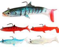 ingrosso trota di plastica-Trota Top Hook Swimbaits 12 cm 28g 3-D Occhi da pesca in plastica morbida simulazione esche Gitzit Paddle richiamo