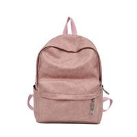 b85fb6ede6fd ACE LOVE 2018 Autumn Girls Backpack Preppy Style Women Backpack Solid Soft  PU Girl School Backpacks Lady Travel Shoulder Bag