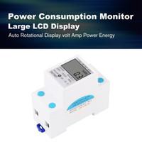 ingrosso ac volts-SINOTIMER Consumo di energia Energia WaAmp Analizzatore di voltmetro KWh AC 230 V Elettricità digitale Monitor di utilizzo Wattmetro