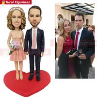 ingrosso figurine del fumetto-figurine della sorella mini statua lesbiche wedding cake topper bobblehead personalizzate figurine comiche miniature figurine in resina cartone animato
