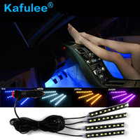 Wholesale car parts doors resale online - GZ KAFOLEE Led Atmosphere Lights Decoration Lamp Floor Foot Light Decoration Car Styling x LED V cool neon Auto Part Light