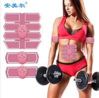massage intelligent achat en gros de-Smart Fitness Électrique EMS Stimulateur Musculaire ABS Muscle Abdominal Toner Corps de Remise En Forme Shaping Massage Patch Siliming Trainer Exerciser Unisexe