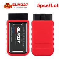 obdii leitor iphone venda por atacado-5PCS / Lot ELM327 WiFi Bluetooth V1.5 PIC18F25K80 Chip OBDII ferramenta de diagnóstico do iPhone / Android / PC ELM 327 V 1,5 OBD 2 Code Reader