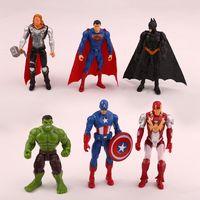 Wholesale toys resale online - 9 cm set The Avengers action figures PVC super hero figures toy for kids gift J001