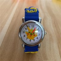 Wholesale digimon toys online - 3D Cartoon Pikachu Watch Boys Girls Soft Silicone Quartz Watches Students Cartoon Anime Digimon Watch Wristwatches For Kids gifts Free Ship