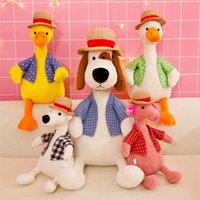 Wholesale elephant puppet for sale - Group buy 20180512Cute Animal Pig Dog Yellow Duck Elephant Bear Plush Classic Toys Dolls Accessories Plush Toy kid Action Toy Figures Baby Toy