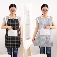 Wholesale bbq aprons for sale - Group buy Kitchen Sleeveless Apron Fashion Plaid Printed Apron Bibs Home Kitchen Cooking Baking Cleaning Aprons BBQ Aprons For Women DBC BH1233