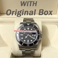 lunette achat en gros de-montre de luxe 40mm aaa montres de luxe pour hommes 116610LN 116610LV 116619LB montre automatique 2813 mouvement Céramique lunette montres montre montre