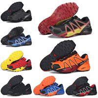 desconto de sneakers laranja venda por atacado-Salomon Speedcross 4 CS Running Shoes Preto Rosa Laranja Amarelo Mulheres Mens Trainer Speed Cross 4 Jogging Sneakers Sports 5-11.5
