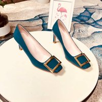 schaffell perlenfersen großhandel-Markenschuhe Importierte original Perlglanzleder Stoff Weiches Schaffellfutter italienische Ledersohle Damen High Heels Business