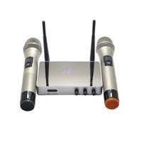 profesyonel mikrofon şarkısı toptan satış-K5 Kablosuz Karaoke Player Profesyonel UHF V4.0 Mikrofon Ev Araba Karaoke Yankı Sistemi Şarkı Mikrofon Kutusu