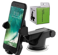 Wholesale Long Neck One Touch Car Mount Holder Suction Cup For Mobile Phone iPhone s Plus s Samsung Galaxy S8 Note mounts