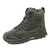 jagdstiefel groihandel-Herren Stiefel Wüste Tactical Military Combat Boots Herren Outdoor Wandern Jagd Camping Ankle Boots aus Leder Winter-Herren Schuhe 39-47