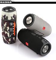 horn bluetooth großhandel-Hot Small Battle Drum Schwerer Subwoofer Bluetooth-Lautsprecher Tragbares tragbares Netzteil Audio Wasserdicht Doppelhorn-HiFi-Box-Lautsprecher