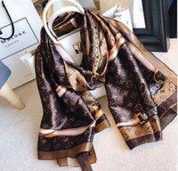 wickelkragen groihandel-Frauen Marke Seidenschals Schal für Frauen 2019 neuen Entwurfs-Hemming Langen Schal Wrap mit Umbau 180x90cm Tücher Kragen Stirnband