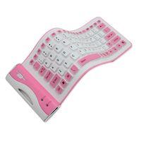 ingrosso silicone tastiera a colori-2019 Tastiera impermeabile in silicone Tastiere portatili flessibili per la connessione wireless Bluetooth Soft Fashion Mix