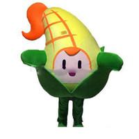 disfraz de mascota de verduras al por mayor-la venta de la fábrica de descuento linda mascota de maíz vegetal traje de lujo del partido trajes del vestido de Carnavales de Halloween
