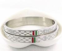 mode armbänder frau großhandel-2019 neue L Marke Designer Armband für Frauen Damen Titan Stahl Mode Armband mit 3 Farben Luxus Schmuck Kostenloser Versand