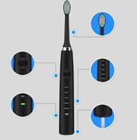 limpador de vibração ultra-sônica venda por atacado-HIGH 3COLOR Escova de Dente Higiene Oral À Prova D 'Água Tooth Cleaner escova de dentes elétrica adulto recarregável escova de dentes de vibração ultra-sônica CZ111