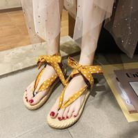 женские сандалии полька-точка оптовых-Flip Flops Platform Polka-Dot Comfort Shoes For Women  Sandals Clear Heels Cross-shoes 2019 Women's And Comfort Block
