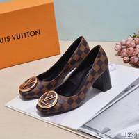 ingrosso le signore confortevoli lavorano le scarpe-18ss donne vestono scarpe in vera pelle tacco medio donne comode scarpe da lavoro strass di cristallo scarpe da ufficio da donna sapato