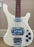 ingrosso bassi della porcellana-4001 V63 1998 Snowglo trans White Bass Stereo ric 4003 China Basso per chitarra elettrica