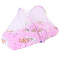 chinesische krippe großhandel-1 stücke Tragbare Baby Kleinkinder Krippe Netting Chinesischen Moskito Insektennetz Baby Safe Bettwäsche Netting Kissen Matratze mit Kissen