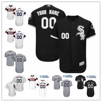 Wholesale jersey numbers for sale - Group buy 2020 free ship custom any name number baseball jersey White Sox baseball wear Chicago men women youth jerseys