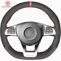 Black Suede Steering Wheel Cover For Mercedes-Benz A45 AMG W205 C43 C63S CLA45 CLS63 GLC 43 c63 GLE43 AMG