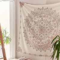 ingrosso stanza della boemia-Tapestry Mandala Hippie Bohemian Wall Hanging Flower Tapestry Wall Hanging Decor per soggiorno Arazzi Camera da letto