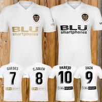 ingrosso camicie di migliore qualità-Novità 2018 2019 Valencia Soccer Jersey Camiseta equipacion del Valencia 18 19 Migliore qualità 3A Maglia da calcio di qualità Parejo Batshuayi Gameiro