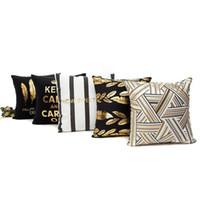 Wholesale christmas bedding sale for sale - Group buy Hot Sale cm Christmas Cushion Cover Decorative Pillow Case Eco Friendly Gold Sofa Seat Case Car Pillowcase Soft Bed Pillow Case