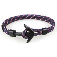 benutzerdefinierte anker armband großhandel-Europa und Amerika Stil kreative Anker Form Armband Großhandel Männer Armband diy Design personalisierte benutzerdefinierte Geschenk