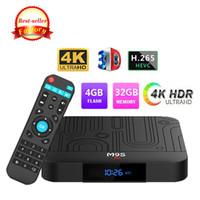 4k ultra hd tv großhandel-Hohe Qualität android tv box M9S J1 4 GB 32 GB Rockchip RK3328 IPTV tv box unterstützung BT4.0 2.4GG WiFi TUSB3.0 4K Ultra HD 3D Besser X88 A95X MAX